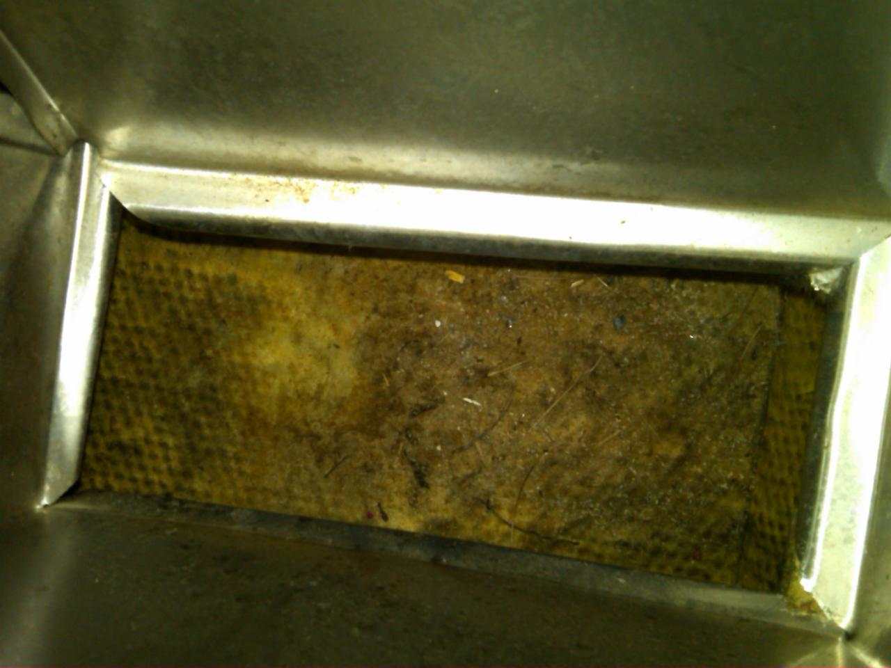 This is what the manufactured home duct looked like before the mold growth.